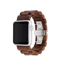 Woodcessories – EcoStrap Watch Band 42/44 (walnut/silver)