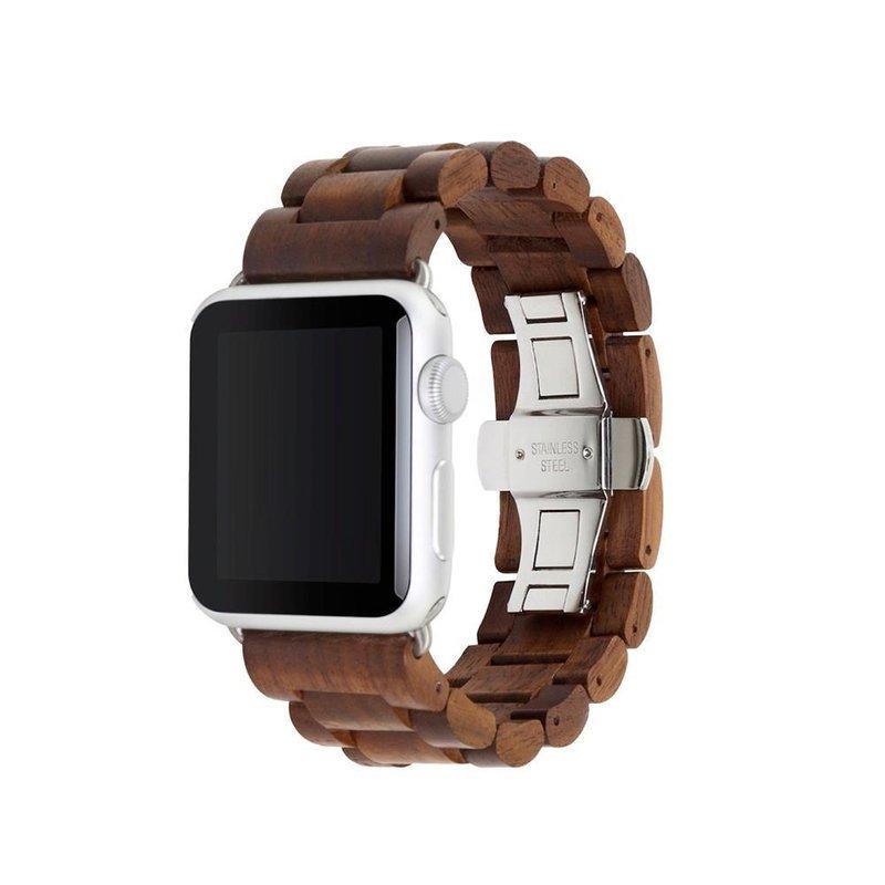Woodcessories – EcoStrap Watch Band 42/44 (walnut/silver)