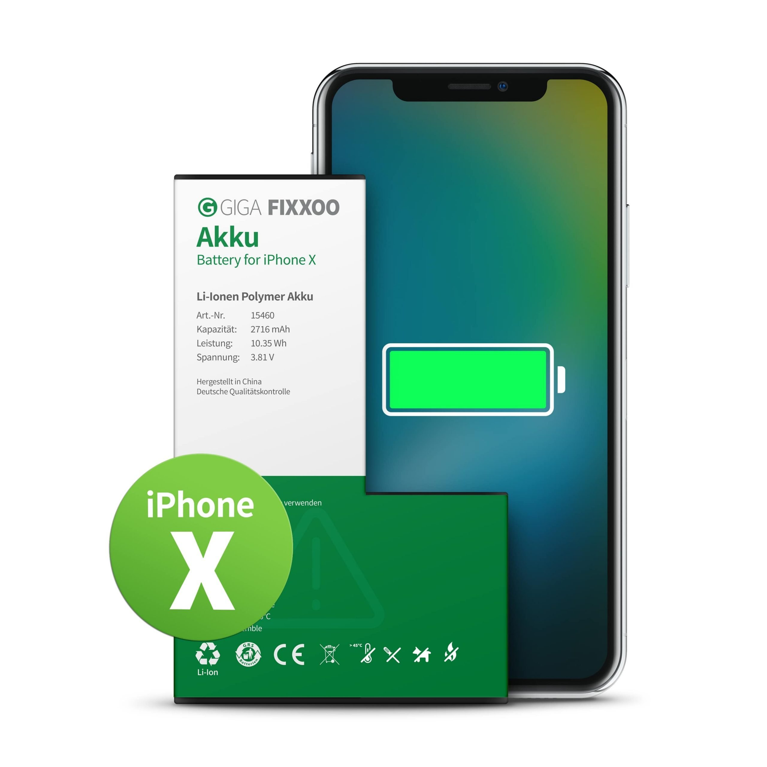 Fixxoo – Battery iPhone X (no tools)