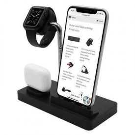 Macally – Stand 3in1 Apple Watch/iPhone/AirPods (black)