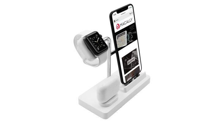 Macally – Stand 3in1 Apple Watch/iPhone/AirPods (white)
